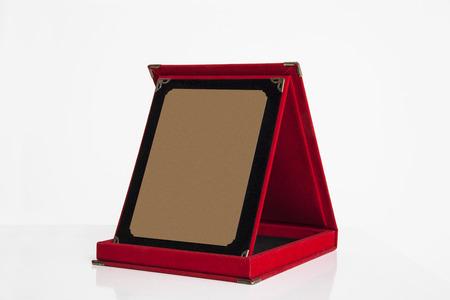plaque: Red Plaque  Stock Photo