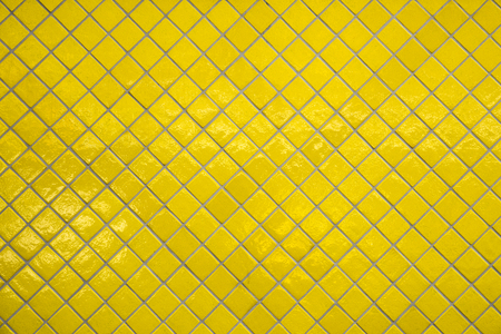 Yellow Porcelain Brick Wall Texture Stock Photo
