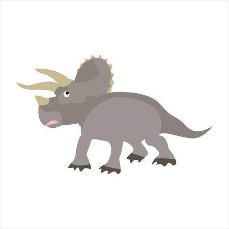 Cute animal dinosaur clip art illustration cartoon character