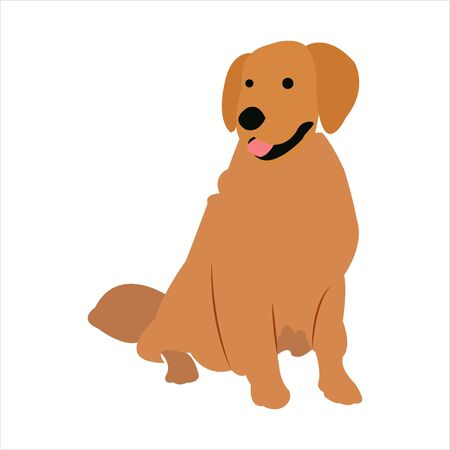 Funny dog clip art illustration with cartoon style Vectores