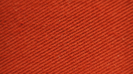 Orange color Cotton Cloth texture on sunlight ,Abstract background and texture