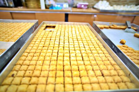 Arabic or Turkish baklava,also well known in middle east ,close up