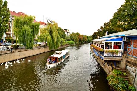 Berlin Germany. Thursday, September 26, 2019 The boat passes many popular sights of Berlin city. Standard-Bild - 133265396
