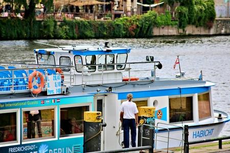 Berlin Germany. Thursday, September 26, 2019 The boat passes many popular sights of Berlin city.