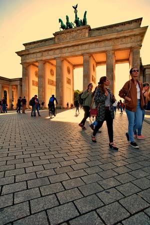 Berlin Germany. Friday, October 4, 2019. Brandenburg Gate in Berlin city, Germany. Standard-Bild - 133265432