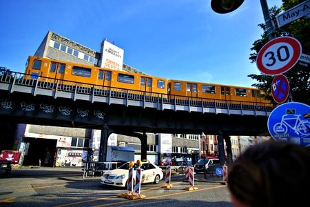 Berlin Germany. Sunday, September 29, 2019 Oberbaum bridge over spree river in berlin.