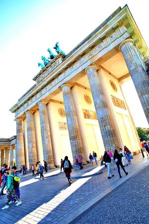 Berlin Germany. Friday, October 4, 2019. Brandenburg Gate in Berlin city, Germany.