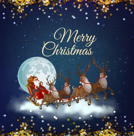 christmas xmas christmas tree santa claus poster flyer greeting banner creative