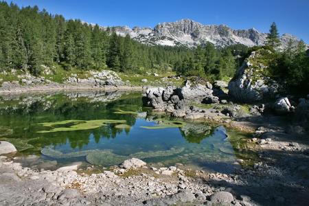 Triglav Lakes in Julian Alps in summer