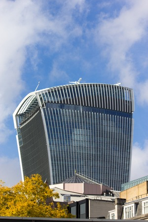 17 20: LONDON - OCTOBER 17, 2014: The 20 Fenchurch Street  Walkie-Talkie building is the 5th tallest building in London.