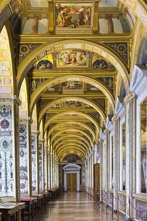 imrepator: SAINT PETERSBURG, RUSSIA - MARCH 03, 2015: Interior of the State Hermitage, a museum of art and culture in Saint Petersburg, Russia. It was founded in 1764 by Catherine the Great