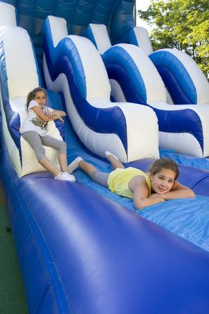 Girls in the playground photo