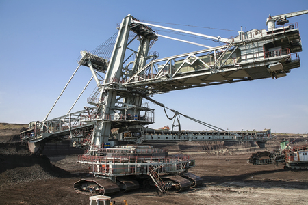 coal mine: Large excavators in coal mine