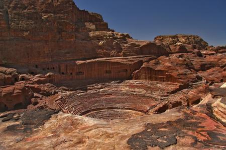 petra  jordan: Ancient amphitheater in Petra Jordan
