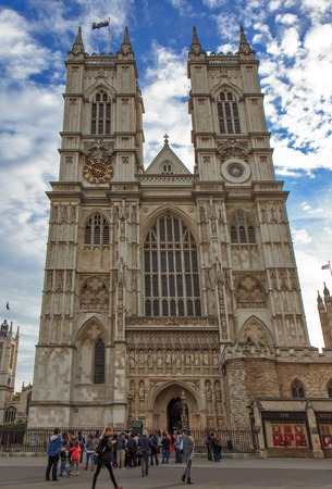 city of westminster: Westminster Abbey The Collegiate Church of St Peter at Westminster  Gothic church in City of Westminster London. Westminster is traditional place of coronation and burial site for English monarchs
