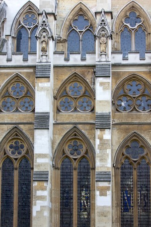 the abbey: Westminster Abbey, Northern side - detail