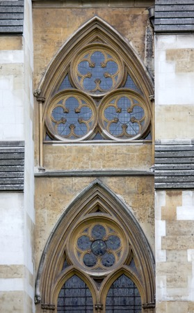 north window arch: Westminster Abbey, Northern side - detail