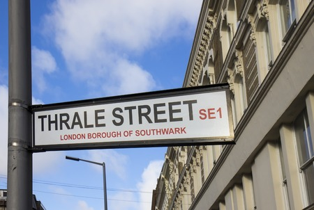 southwark: Street sign in London