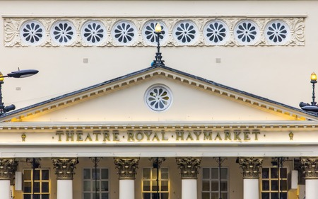 treasured: The Theatre Royal Haymarket known originally as The Little Theatre in the Hay is designed and constructed by John Potter in 1720 it is one of Britains most treasured theatres.