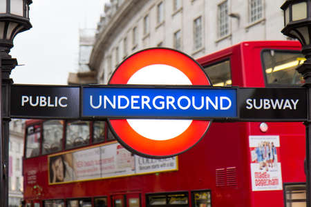 piccadilly: Piccadilly Circus street underground tube station on October 17, 2014 in London, England. Londons underground railway is the oldest in the world, dating back to 1863. Editorial