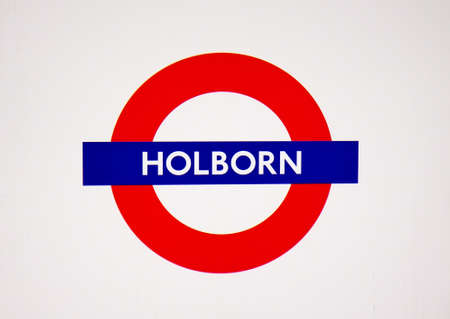 piccadilly: Metro station sign Holborn on the central and piccadilly line in London, UK, October 18, 2014. Editorial