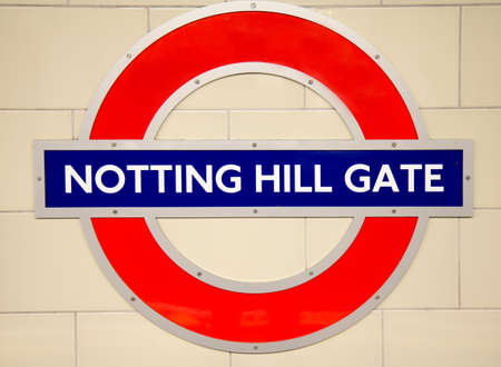 notting hill: Underground Notting Hill tube station in London on October 18, 2014. The London Underground is the oldest underground railway in the world. Central, Distric and Circle metro lines.