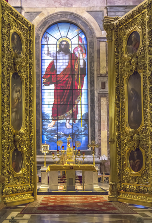 liturgy: Interior of St. Isaacs Cathedral