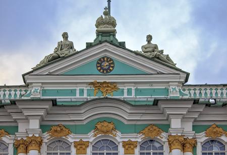 and saint: Hermitage, Saint Petersburg, Russia
