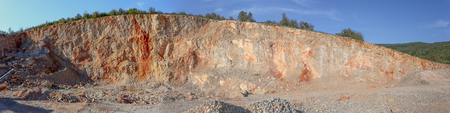 gravel pit: Panoramic view of gravel pit from Serbia Stock Photo