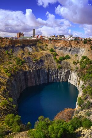 deep south: Historic Kimberly diamond mine world heritage site