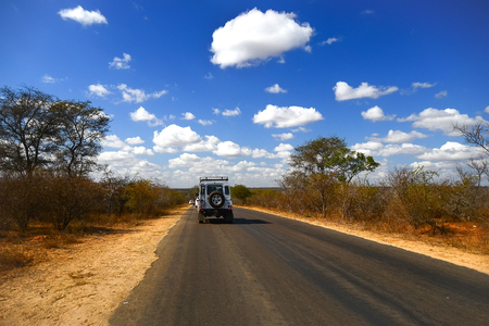 south africa soil: Road in Kruger National park, South Africa Editorial