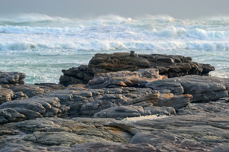 foaming: Scarborough coast, South Africa