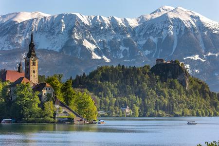 bled: Bled, Slovenia - small church on the island