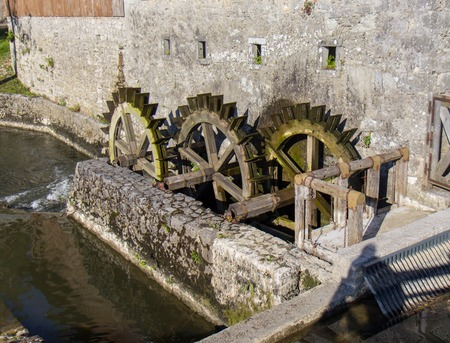 water mill: Old water mill Stock Photo