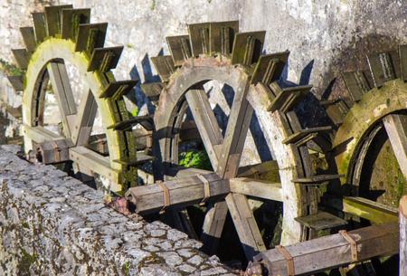 waterwheel: Old water mill Stock Photo