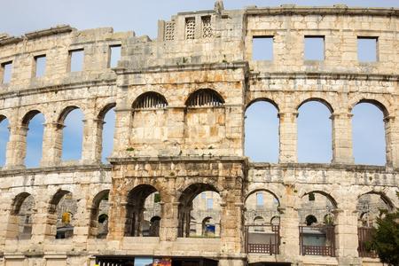 amphitheatre: Pula, Croatia - Roman amphitheatre - detail