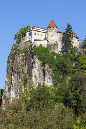 bled: Bled, Slovenia - fortress on the hill Editorial