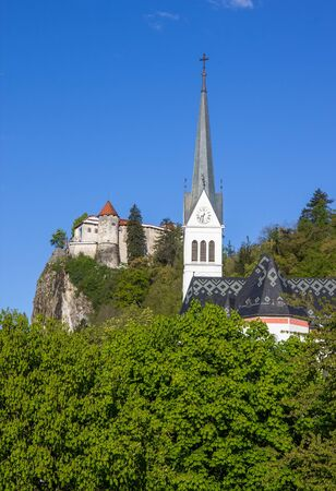 bled: Bled, Slovenia - fortress and church