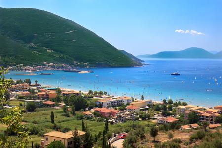 windsurfers: Vasiliki bay, Lefkada island, Greece