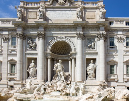 Detail from Trevi fountain in Rome, Italy Stock Photo