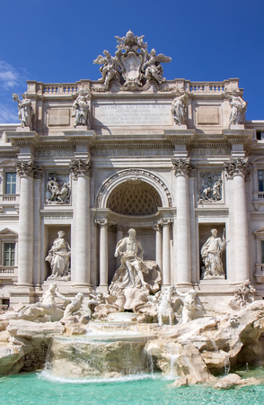 Detail van de Trevi-fontein in Rome, Italië