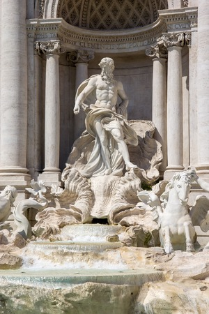 Detail from Trevi fountain in Rome, Italy - Oceanus statue