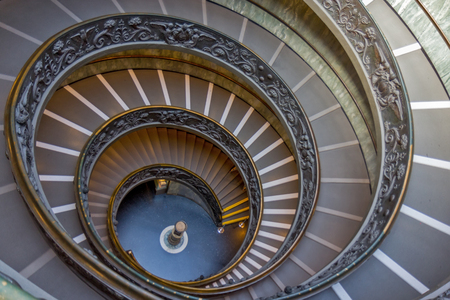 Spiral stairs of the Vatican Museums, Vatican City, Rome, Italy.