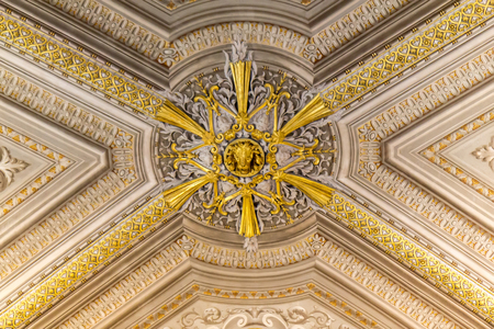Ceiling in the Vatican Museums, Italy