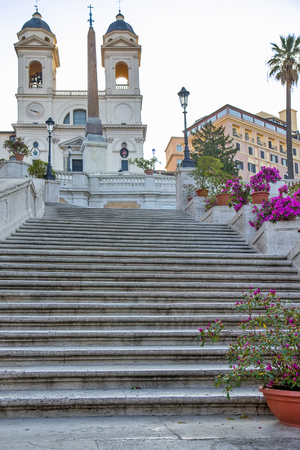 The Spanish Steps in Rome. Italy.