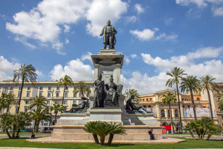 ROME, ITALY - APRIL 14, 2017: Camillo Benso, Count of Cavour was an Italian statesman and a leading figure in the movement toward Italian unification. Editorial