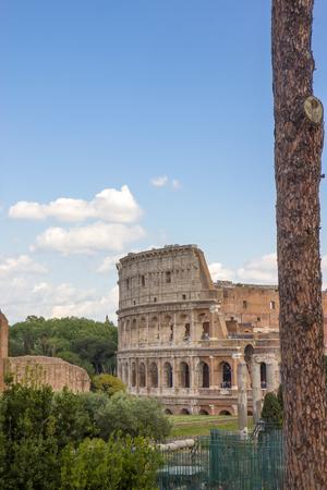 Roman Colosseum amphiteater in Rome, Italy