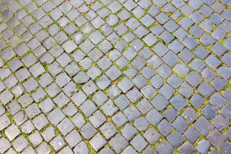 Cobblestone in Rome, Italy Stock Photo