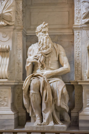 ROME, ITALY - APRIL, 17, 2017: San Pietro in Vincoli in Rome, Italy best known for being the home of Michelangelo's statue of Moses.