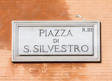 Street sign in Rome, Italy Archivio Fotografico